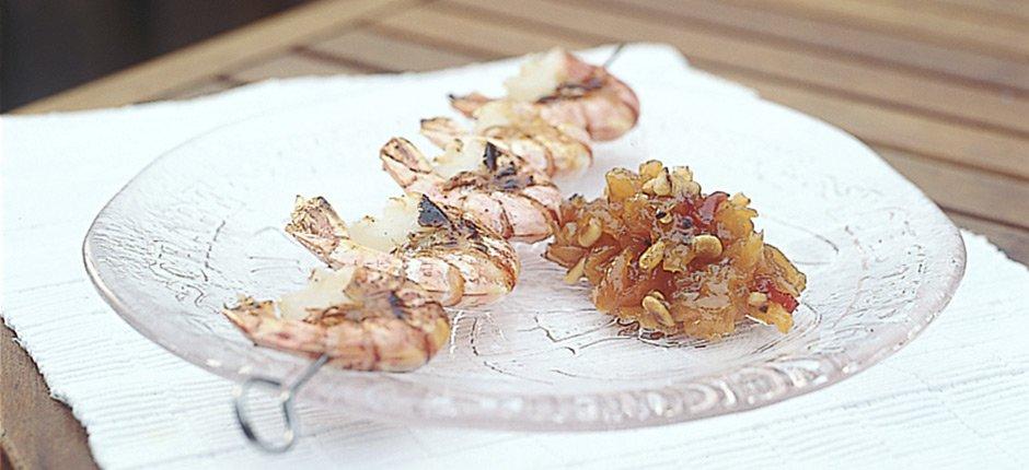 Aprikos och pinjenötschutney