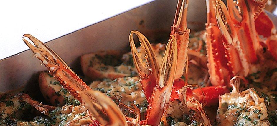 Gorgonzolagratinerade havskräftor