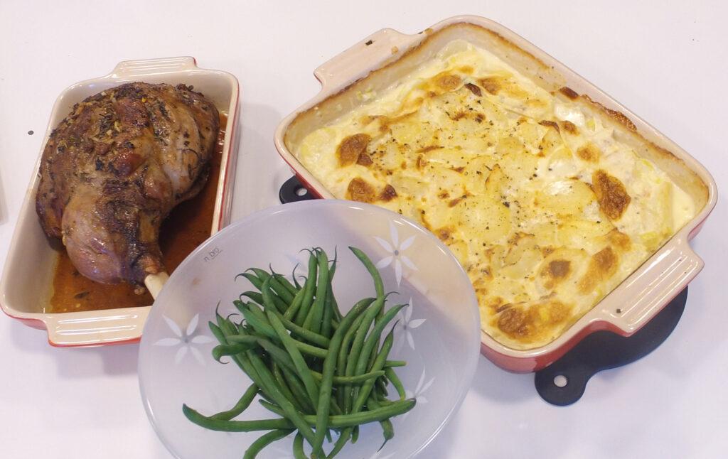 Recept på Lammstek med klassisk potatisgratäng