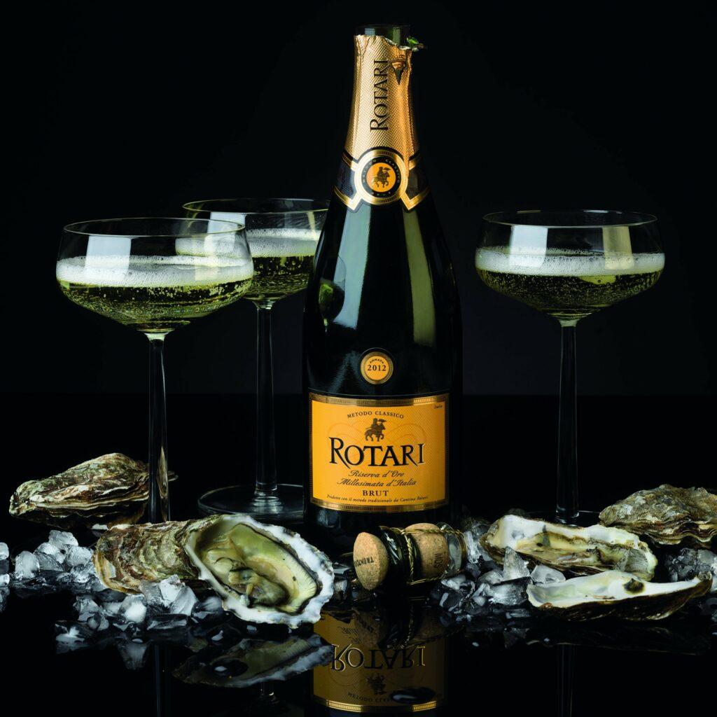 Rotari Brut Riserva och ostron