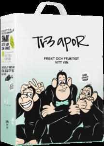 Tr3 Apor Halvtorrt vitt vin