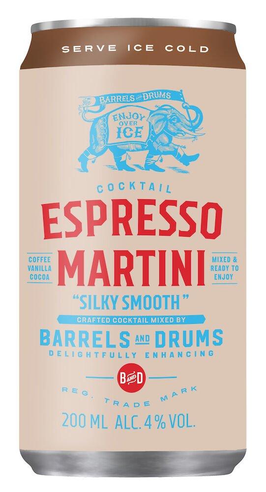 espresso martini 200ml mockup